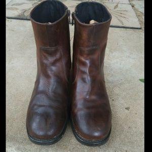 Durango BROWN LEATHER Chelsea ANKLE Boots Men 11D